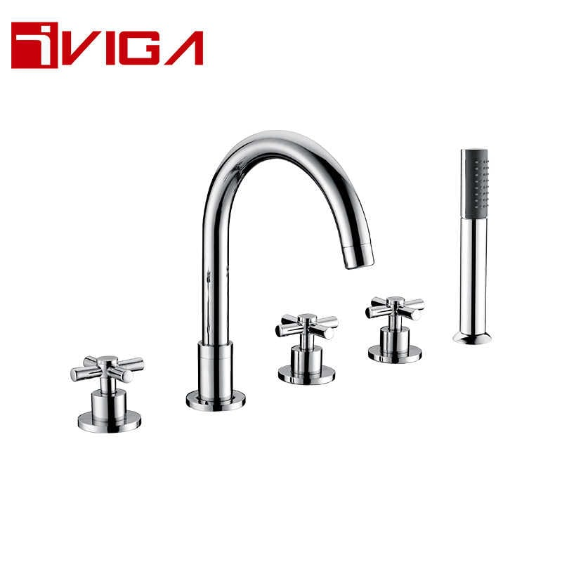 134500CH Deck Mounted 5-hole Bath Faucet
