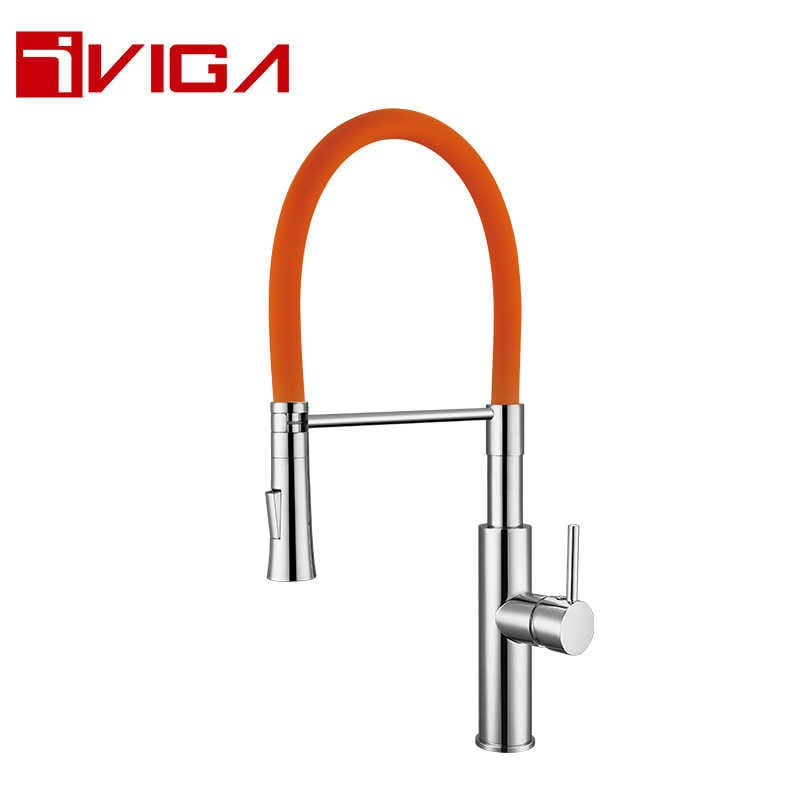 Pre-Rinse Spray Kitchen Faucet 42206005CH with Locking Push Button Control