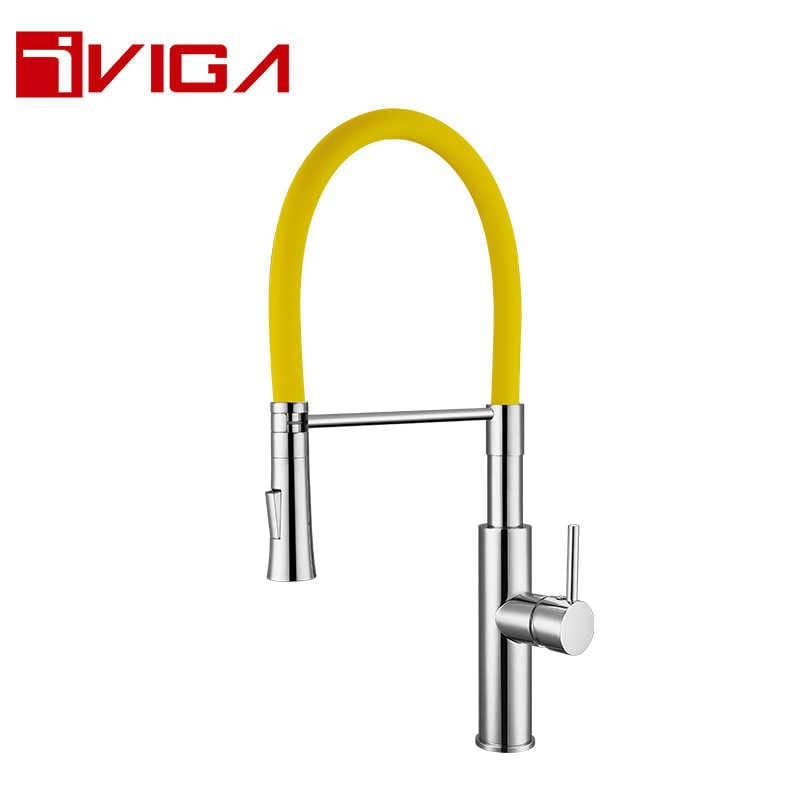 Pre-Rinse Spray Kitchen Faucet 42206007CH with Locking Push Button Control