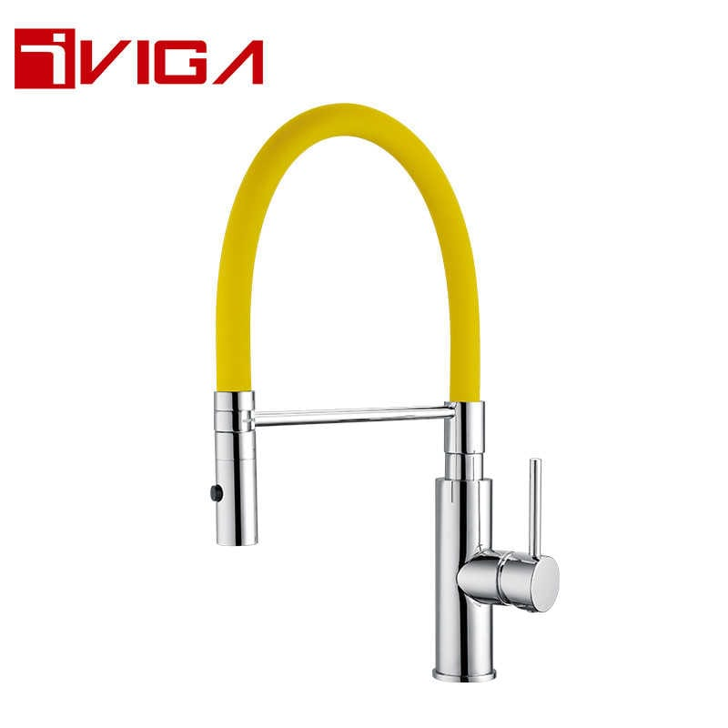 Pre-Rinse Spray Kitchen Faucet 42209007CH with Locking Push Button Control