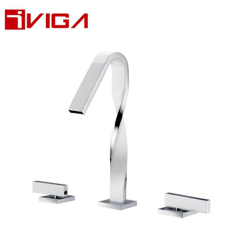 824300LWC Deck mounted 3-hole basin faucet