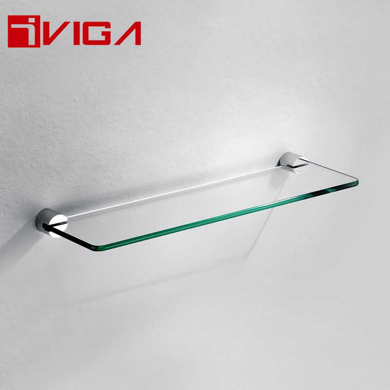 481413CH Single layer glass shelf